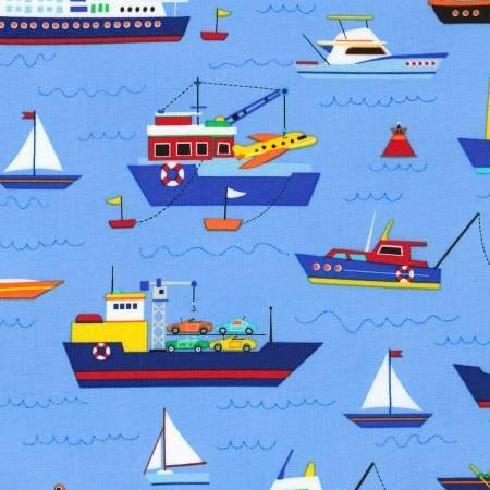 Go, Go, Go - Boats on Blue