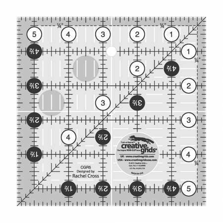 Creative Grids 5 1/2 x 5 1/2 Turn a Round Ruler
