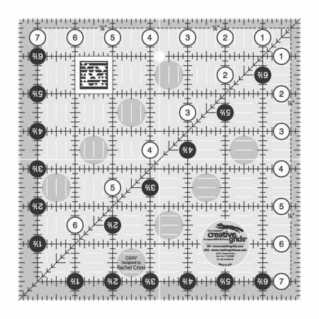 Creative Grids 7 1/2 x 7 1/2 Turn a Round Ruler