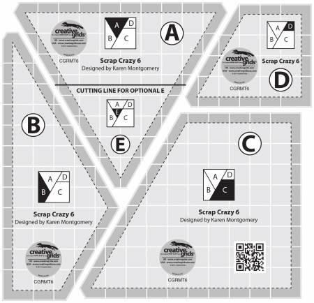 Scrap Crazy 6 Ruler Set by Creative Grids