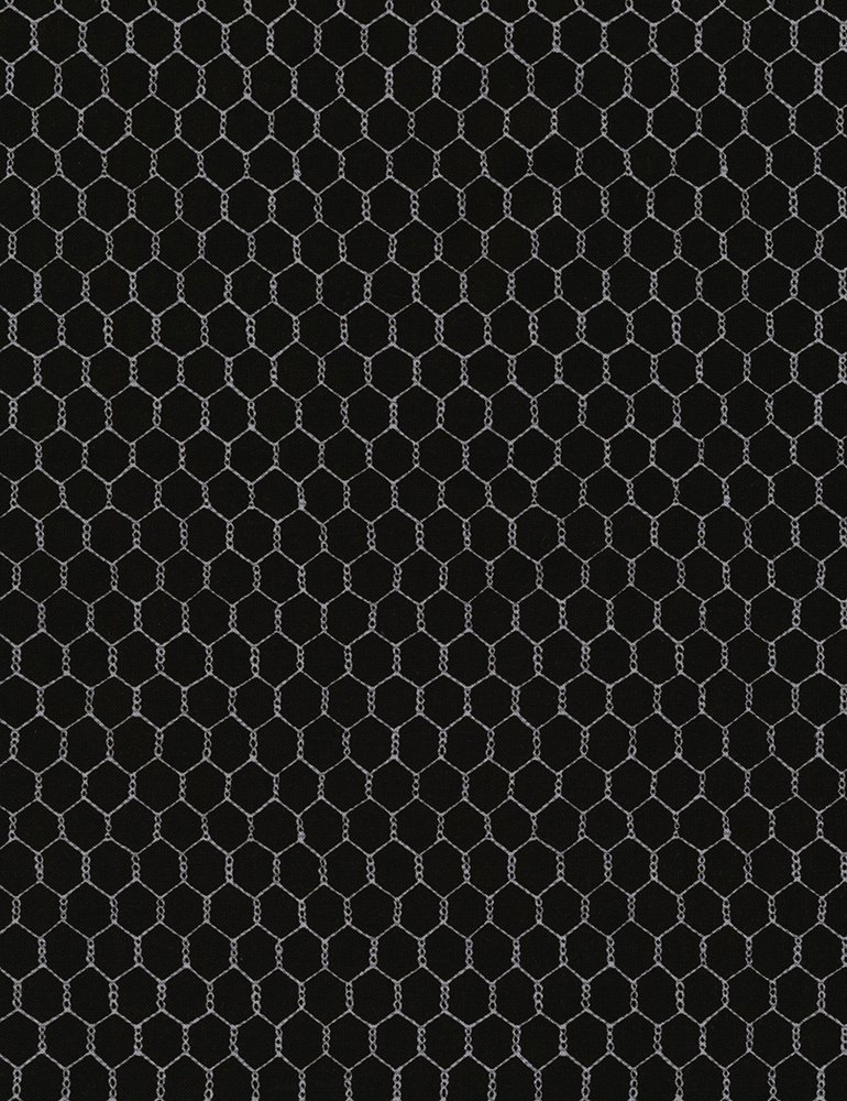 Chicken Wire on Black