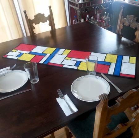 Mondrian Table Runner - 50% Off!