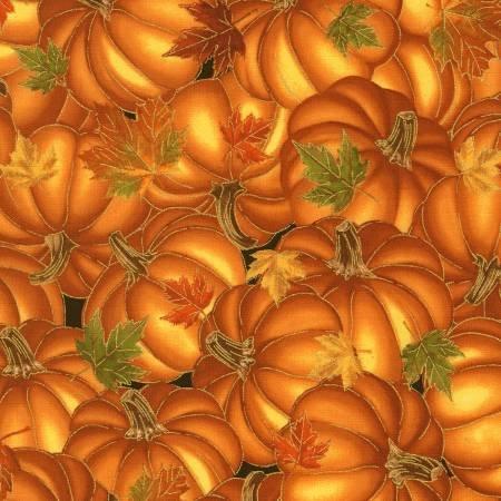 Bountiful - Pumpkins with Gold Metallic