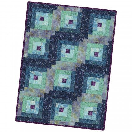 Pods - 12 Block Log Cabin Pod - Coastal Chic Batiks