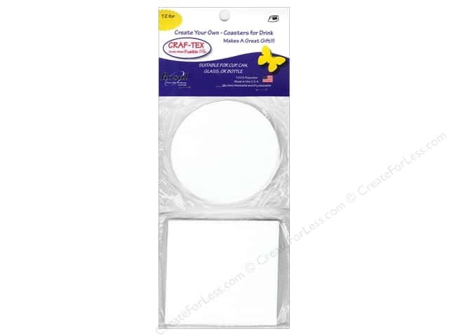 Craf-Tex Double Sided Fusible Plus - 12 pk - Round & Square Coasters.