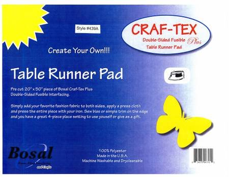 Craf-Tex Table Runner Pad by Bosal - 20x50. Double sided.  Fusible.