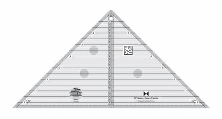 90 Degree Quarter-Square Triangle Ruler by Creative Grids