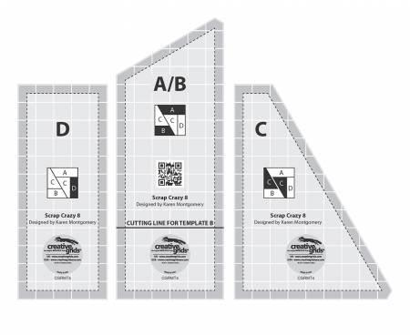 Scrap Crazy 8 Ruler Set by Creative Grids