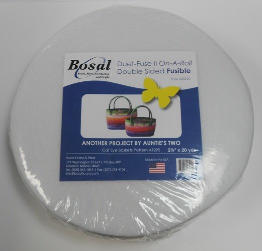 Duet-Fuse II On-A-Roll - Double Sided Fusible Batting by Bosal - 2.25 x 20 yards