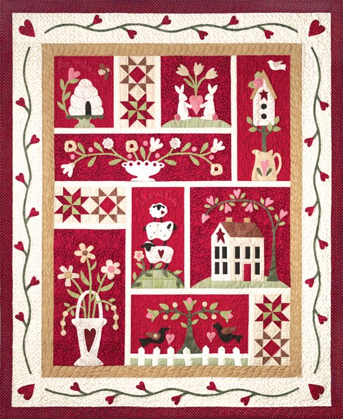 From The Heart - 9 Pattern Fusible Applique Kit