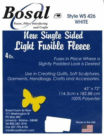 Fusible Fleece - Light Single Sided 4 oz. 45x72