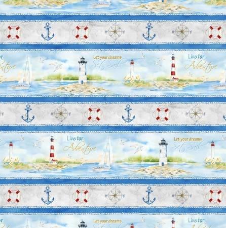 Harbor Lights - Border Stripe