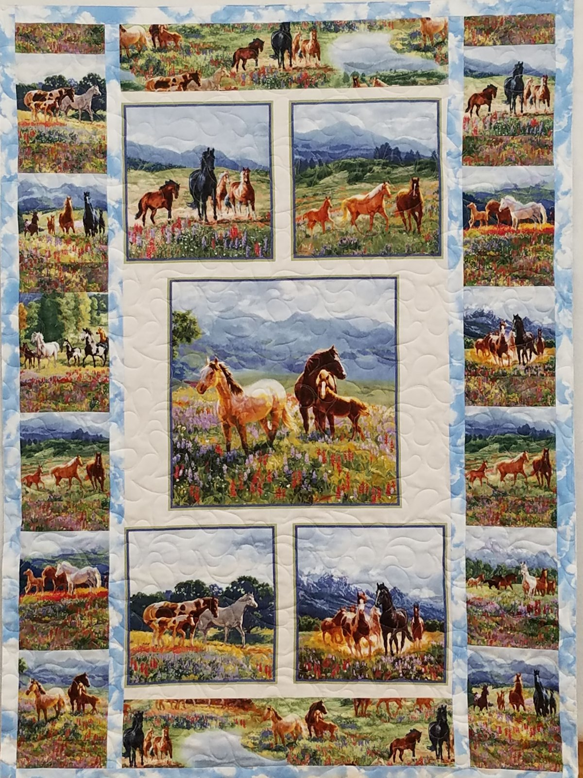 Wildflower Trails and Horses Quilt Kit
