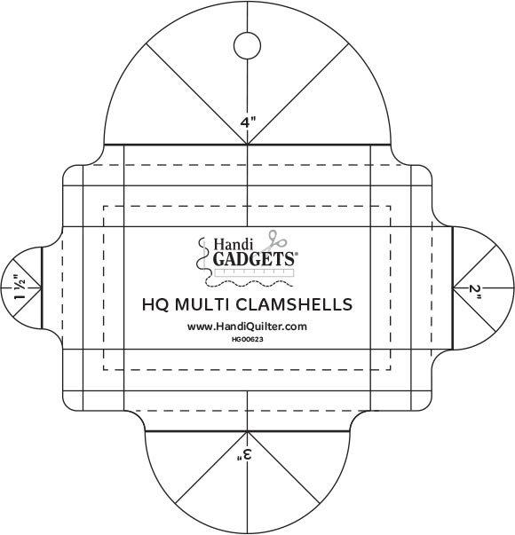 HQ Multi Clamshell Ruler