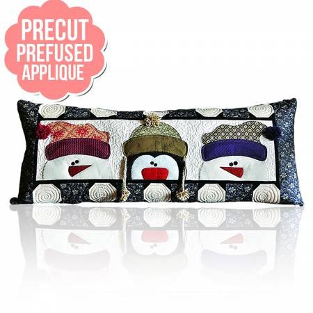 Whimsy Winter Bench Pillows - January with pattern