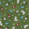 Frolic in the Snow Flannel - Mittens on Green