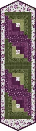 PODS - Amour Log Cabin Table Runner, 13in x 45in.