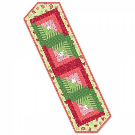 Pods - Log Cabin Table Runner - Sprinkle Sunshine