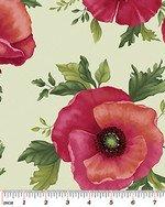 Poppy Panache - Large Poppy on Mint - 50% Off!