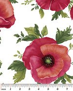 Poppy Panache - Large Poppy on White