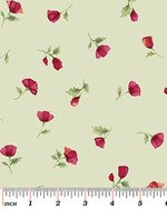 Poppy Panache - Poppy mini buds on mint