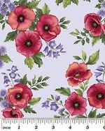 Poppy Panache - Small Poppy Toss on Lilac