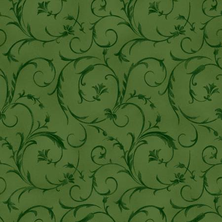 Beautiful Backings in Forest Green by Maywood Studios