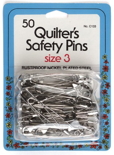 Quilter's Safety Pins - X large Size 3