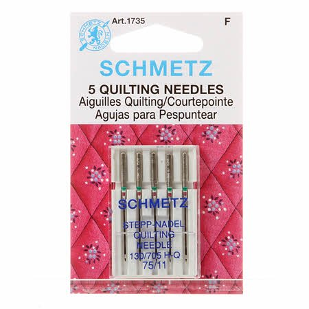 Schmetz 11/75 Sewing Machine Quilting Needles