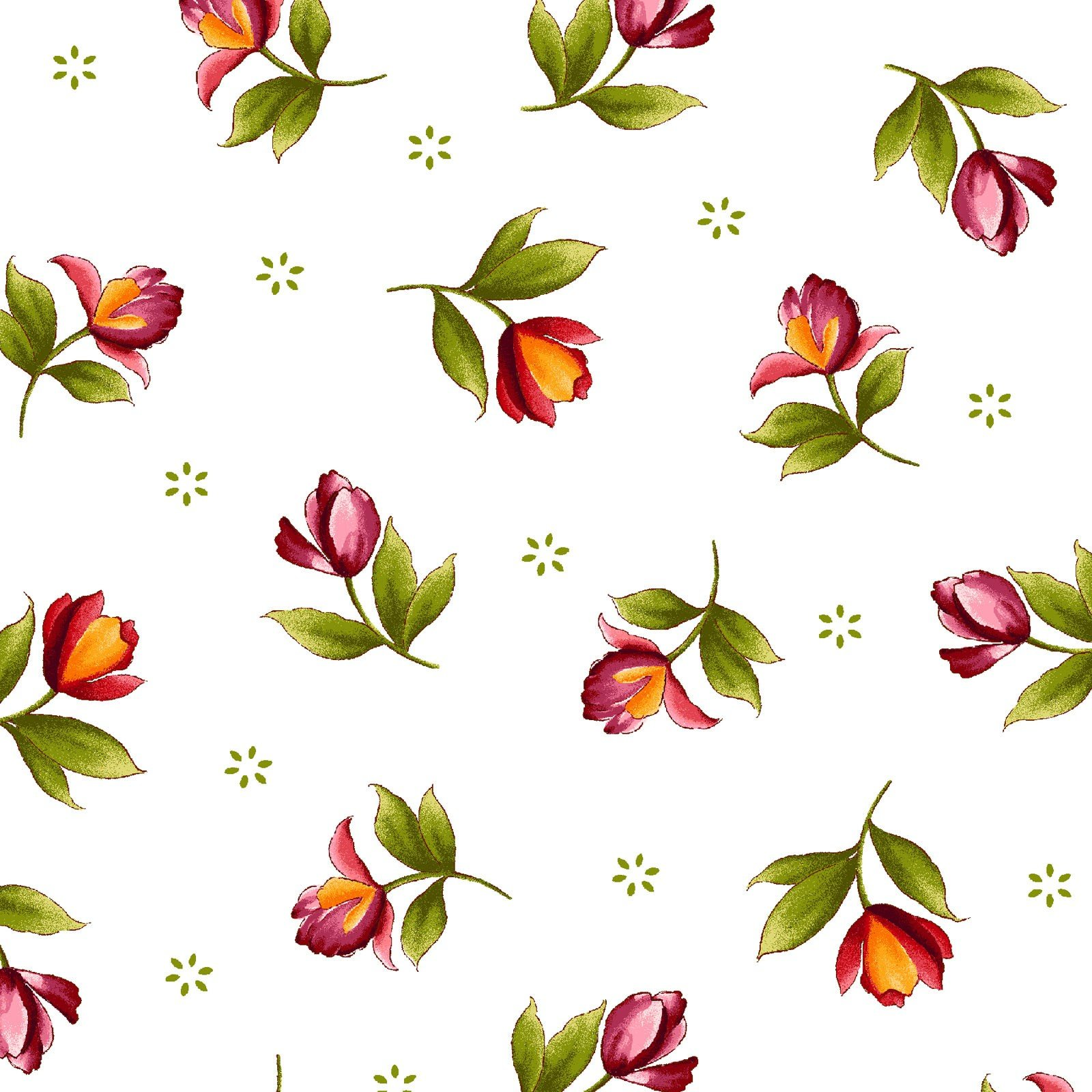 Catalina Collection - Single Blossom on White