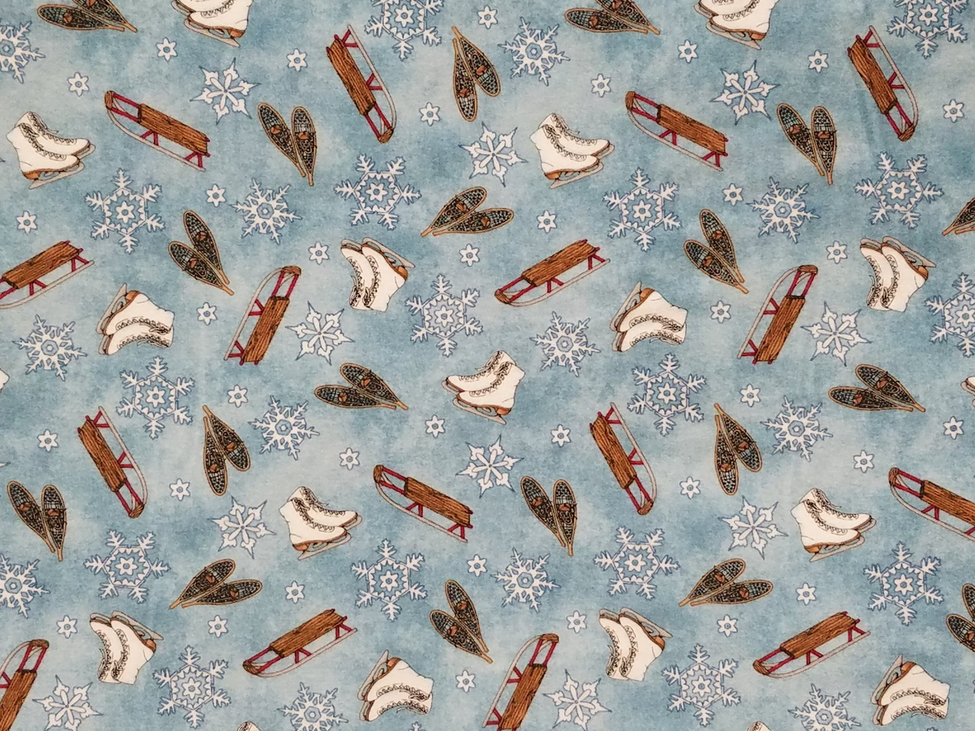 Frolic in the Snow Flannel - Sports Toss - 50% Off!