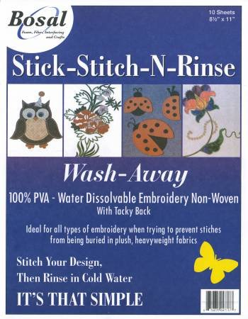 Stick-Stitch-N-Rinse