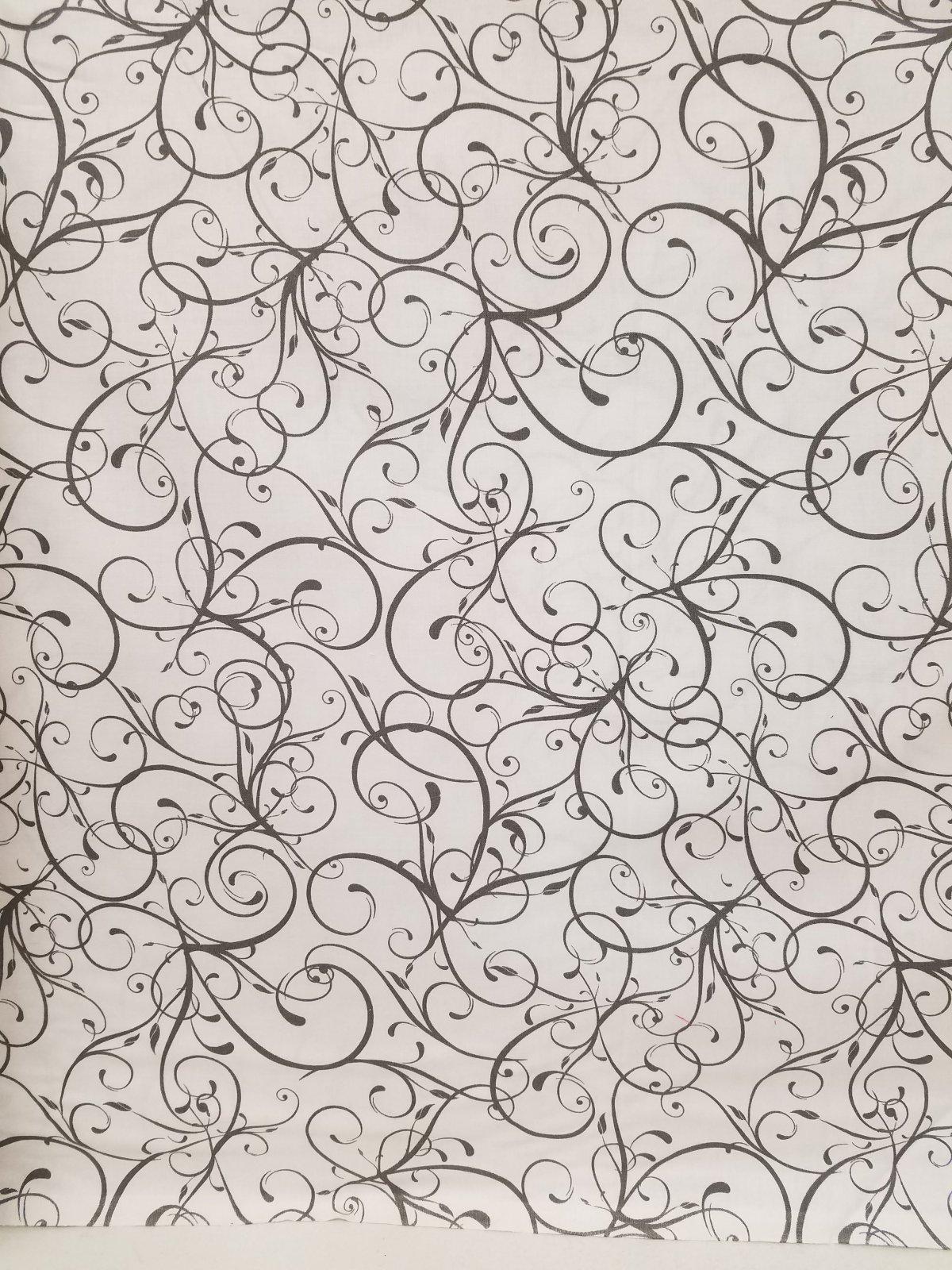 Black Swirl on White