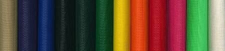 Roll of Vinyl Mesh in Assorted Colors