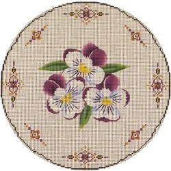 Pansy Round Pillow