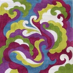 Magenta and Purple Scroll