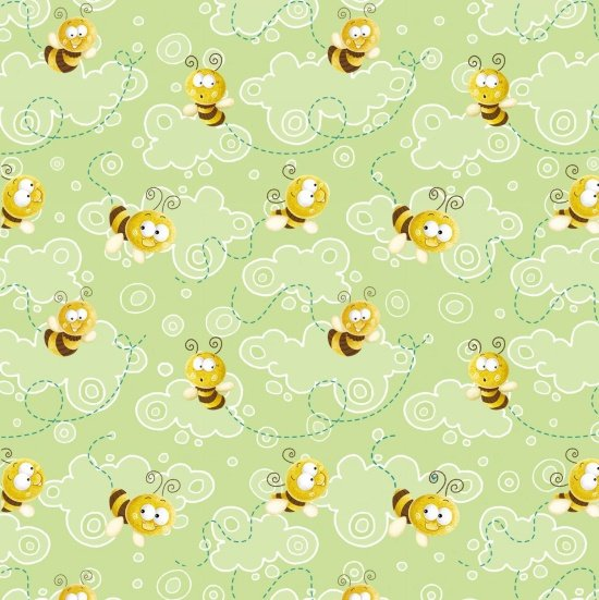 Frogland Friends - Bees on Green