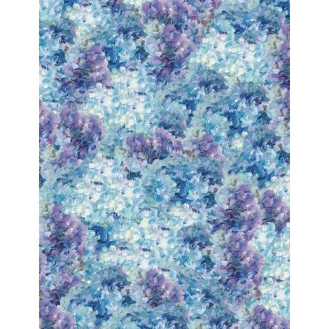 Flower Market- Hydrangea Texture Purple/Blue
