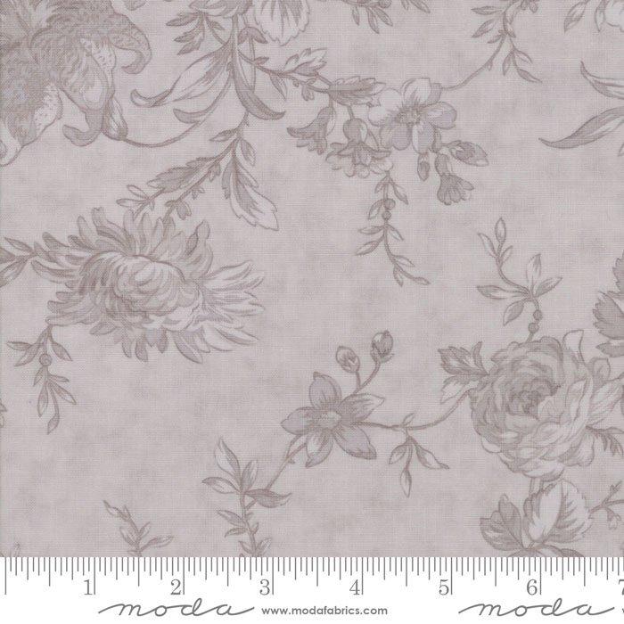 108 Wideback- Poetry Prints Grey Floral