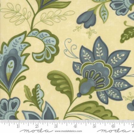 Plush - Elegant Jacobean Floral on Cream