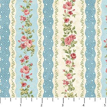 Vintage Rose - Repeating Stripe