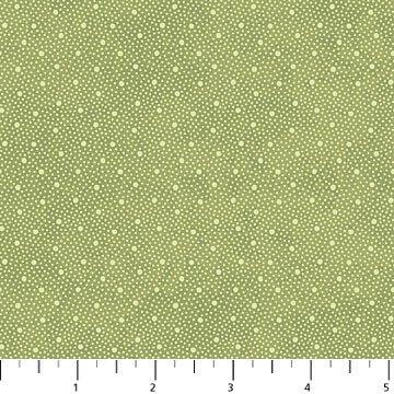 Vintage Rose - Green Polka Dot