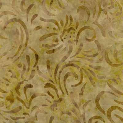 Batavian Batik -- Green/Gold