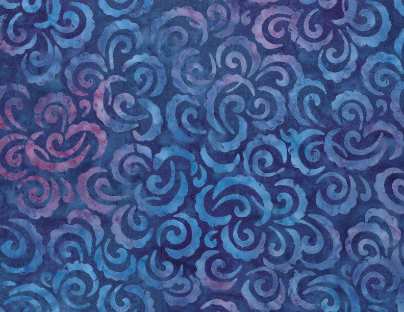Wilmington Batiks - Curlicues Purple and Pink