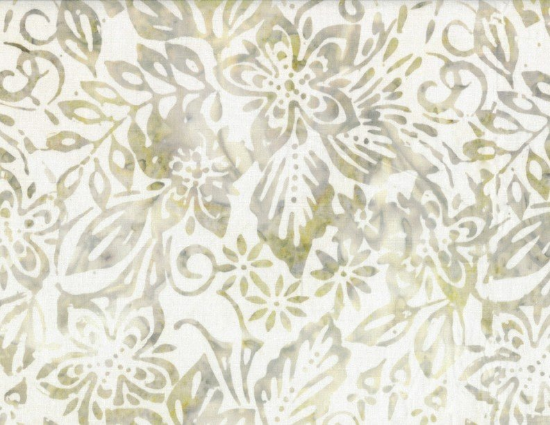 Wilmington Batiks - Packed Floral Mix Ivory