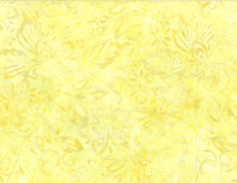 Wilmington Batiks - Packed Floral Mix Yellow