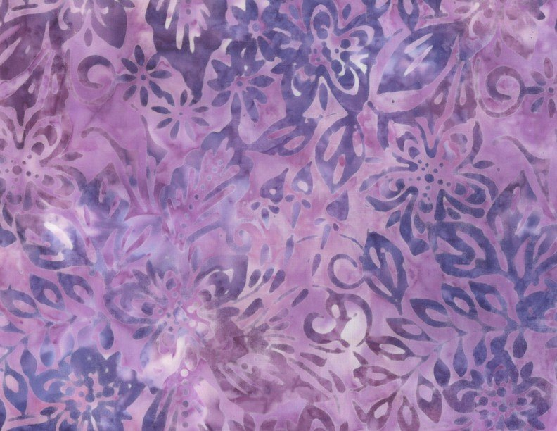 Wilmington Batiks - Packed Floral Mix Light Purple