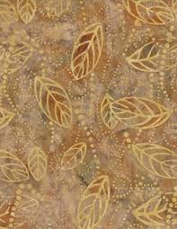 Wilmington Batiks - Floating Leaves Tan/Yellow