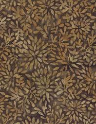 Wilmington Batiks - Packed Petals Brown