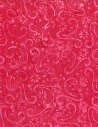 Wilmington Batiks - Floral Patchwork Dark Pink